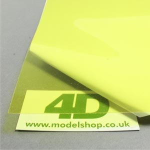 Yellow acetate sheet