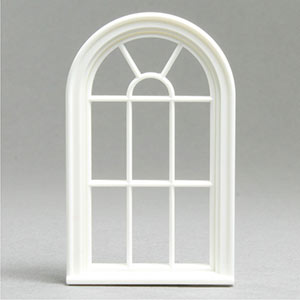1 24 Victorian Round Top 10 Pane Window