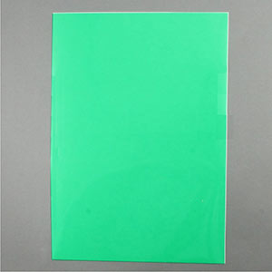 Green acetate sheet