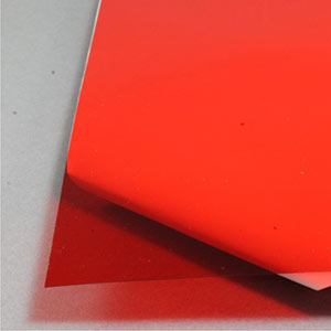 Red acetate sheet