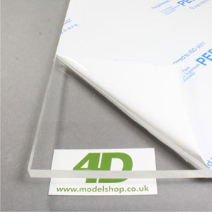 Clear acrylic sheet suitable for laser cutting