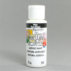 Decoart Crafters Acrylic White Paint