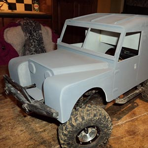 Palight landrover made by Graham Coles