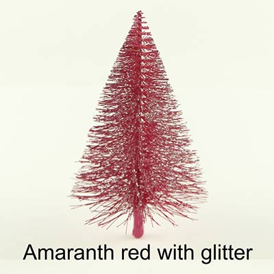 Amaranth red with glitter