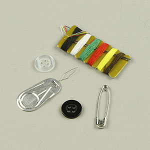 Sewing kit baggage tag