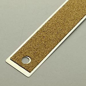600mm cork-backed steel rule