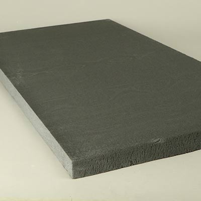 Dark grey styrofoam
