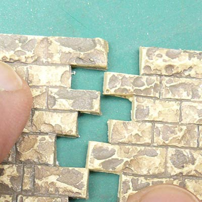 Small cut small stone wall 8260
