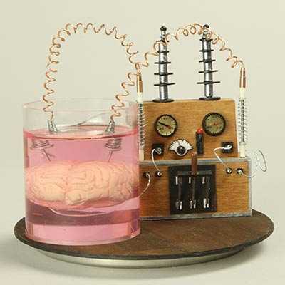 Brain experiment made with Solid Water