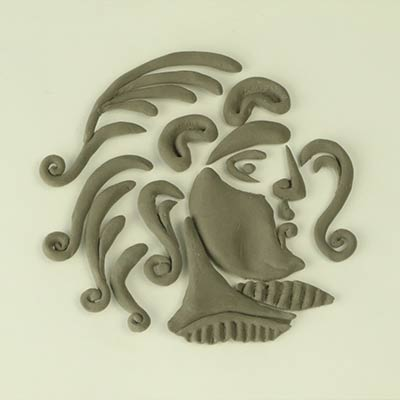 Craft Foam Clay Celtic coin