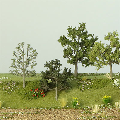 Model trees for landscape model making projects