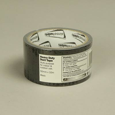 50mm black gloss duct tape
