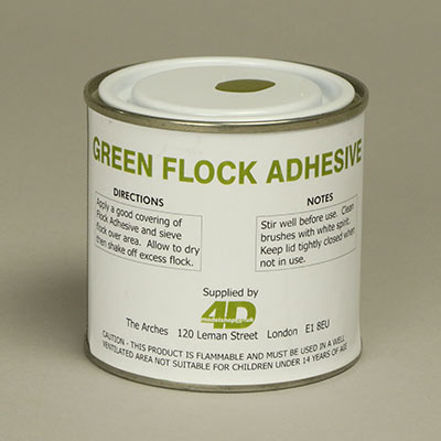 Adhesive for applying flock to your model