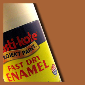 Plastikote Fast dry enamel copper spray paint