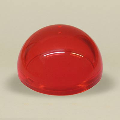 Red acrylic dome