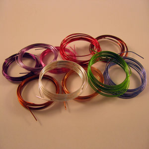 Craft wire 0.5mm x 1m Pk10 colours