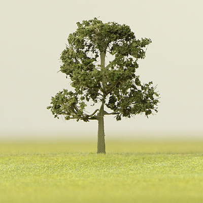 175mm summer green model tree