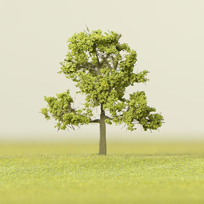 175mm light green deciduous model tree