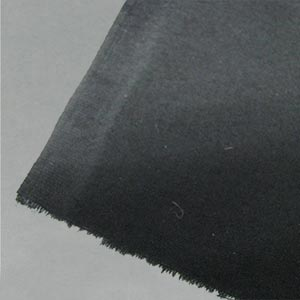 Fire retardent black cotton