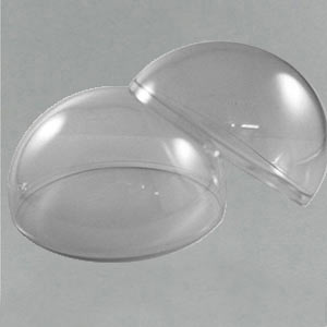 2 part clear acrylic domes