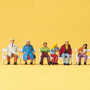1:87 figures couples on bench painted Pk6