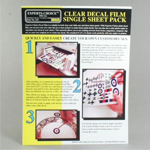 Decal paper laser/photocopy clear