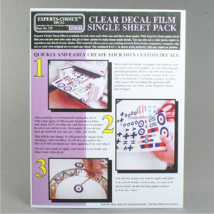 Decal paper inkjet clear
