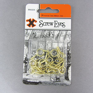 Brass screw eyes assorted