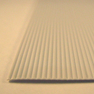 Corrugated styrene sheet 1.0mm spacing