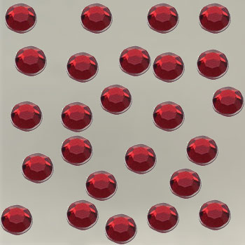 Acrylic stones 4mm red
