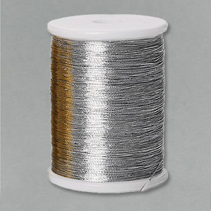 Embroidery thread silver