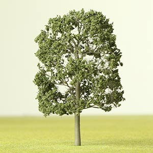 Dark green model tree