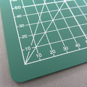 A4 cutting mat green