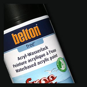 Black, satin 250ml Belton free