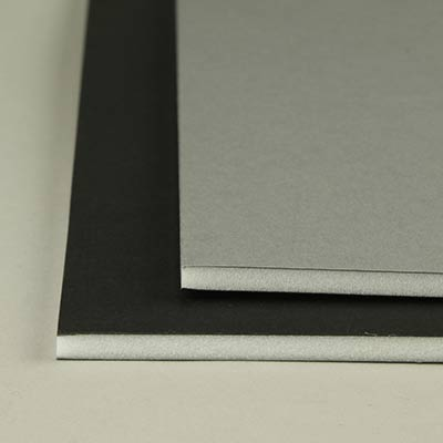 Foamboard, Westfoam grey/black 5.0mm A4 Pk20