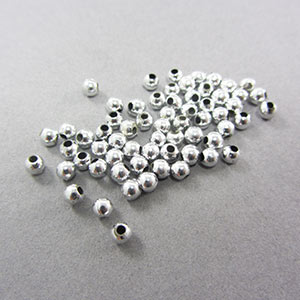 3mm silver beads