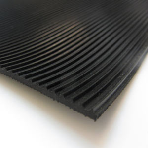 Black corrugated rubber