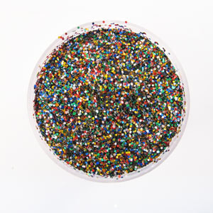 multicoloured glitter for Christmas displays