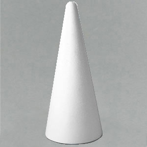 Polystyrene cones for Christmas displays