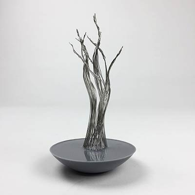 Cast resin base for schematic model tree
