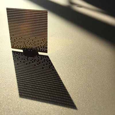 0.3mm thick photo etched brass mesh