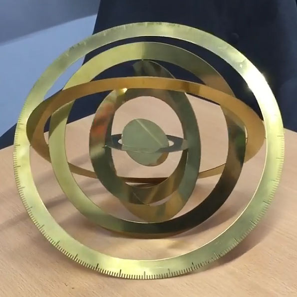 300mm diameter photo etched brass 3 dimensional sculpture