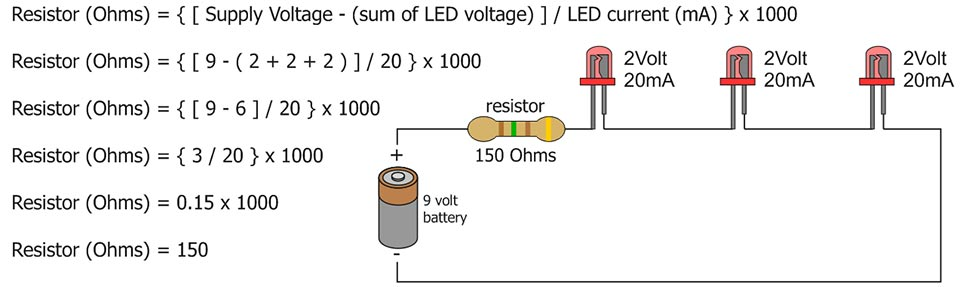 Guide to LED's and resistors