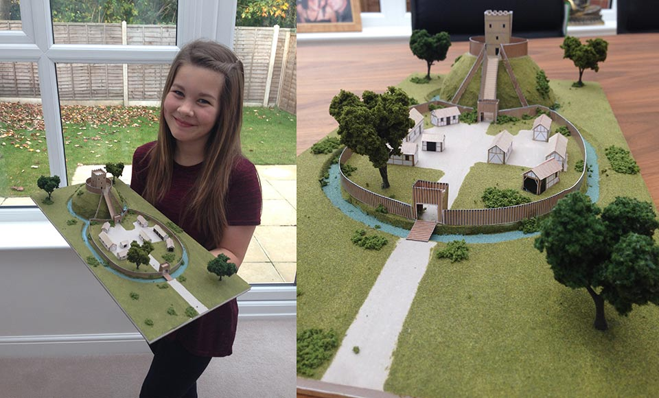 Motte and Baily castle year 7 history project by Kara Payne