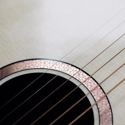Copper etching for Tom Sands Guitars