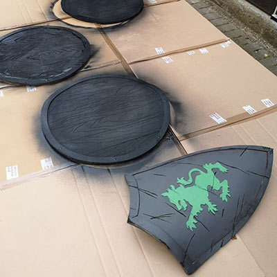 Prop making for beginners - shield making workshop
